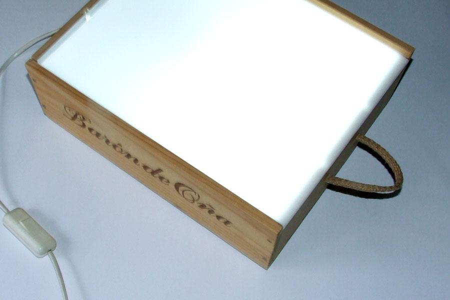 C mo hacer una caja de luz montessori for Mesa de luz para dibujo