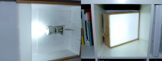 caja de luz infantil montessori. detalle