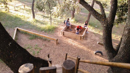 vistas desde la casita en el árbol de El Carrascal