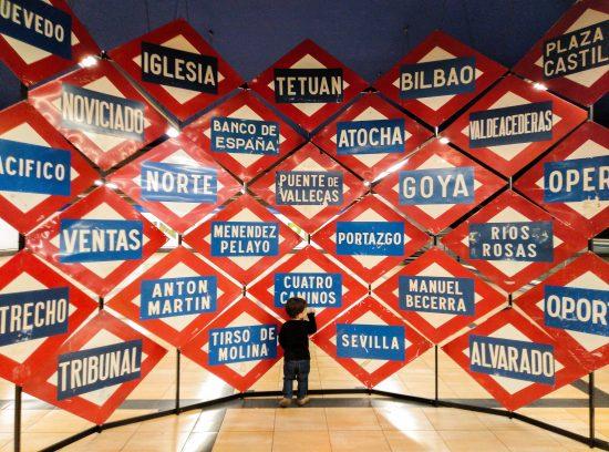 Exposición del centenario del Metro de Madrid. Photocall