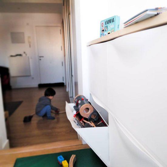 Mueble Montessori para juguetes