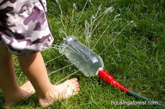 juegos de agua: aspersor diy