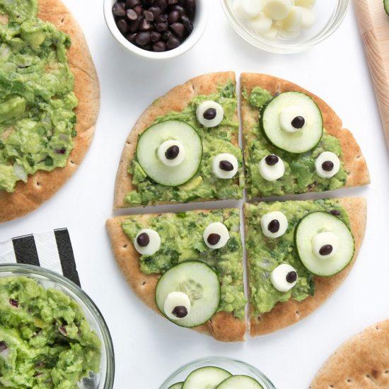 10 recetas sanas de Halloween para niños veganos y realfooders: Pizza de ojos asquerosos