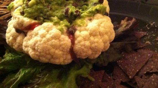 10 recetas sanas de Halloween para niños veganos y realfooders: Cerebro de coliflor