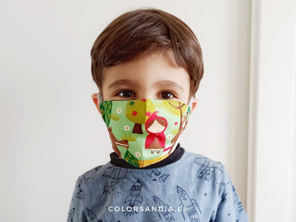 mascarillas reutilizables infantiles